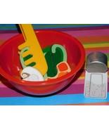 Chop up Shrimp Pepper Salad  Kids Kitchen Food Lot Play Food day care lo... - $12.86