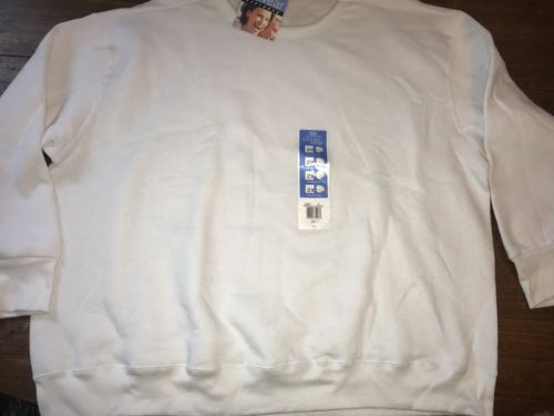 new Fruit of the Loom Sweatshirt size 2X White easy to wear  NWT New