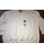 new Fruit of the Loom Sweatshirt size 2X White easy to wear  NWT New - $21.85