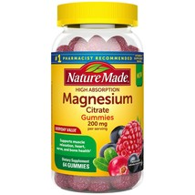 Nature Made High Absorption Magnesium Citrate Gummies 200mg 60 Gummies H... - $31.99