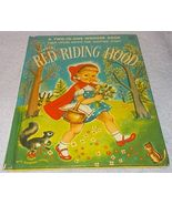 Wonder Book Three Little Pigs and Little Red Riding Hood 1954 Two in One... - $9.95