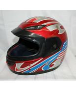 Vintage Helmet ~ USA Flag Design ~ Size L (59-60 cm) ~ DOT Approved - $13.66