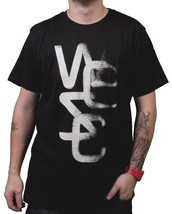 WeSC We are superlative Conspiracy Overlay Light Black Short SLeeve T-Shirt NWT