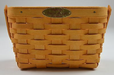 Primary image for Longaberger 2000 Dresden Basket Combo With Protecter & Metal Plate Home Decor