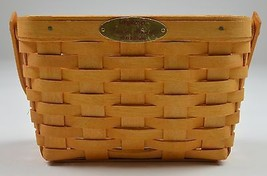 Longaberger 2000 Dresden Basket Combo With Protecter & Metal Plate Home Decor - $27.99
