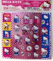 American Greetings Corp HELLO KITTY Sticker Pack - 216 Stickers - 3 Designs CUTE - $4.94