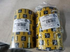 Lot of 2 Zebra 6200 4.33in X 1476 Black Resin Ribbon Singleroll 06200BK11045 - $37.99