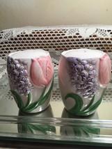 """Vtg. Otagiri """"Tulip Garden"""" Salt & Pepper by Mary Ann Baker 12 1/2 """" - $19.79"""