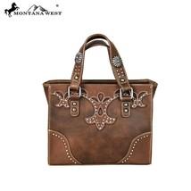 Montana West Studs Cut-out Applique Design, Concho Collection Small Tote Handbag - $59.99