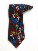 Peanuts Do Not Open Till Christmas Snoopy Cartoon Novelty Tie Necktie - $19.79