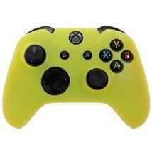 Xbox ONE © controlador piel silicona caso  amarillo  funda Gel goma prot... - $7.73