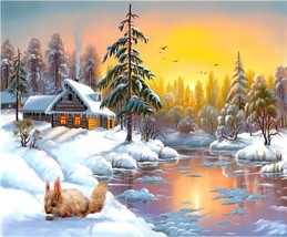 """Christmas Scene16X20"""" Unframe Paint By Number Kit DIY Acrylic Painting on Canvas - $8.99"""