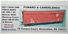 Funaro & Camerlengo HO B&M  XM-1 SS Boxcar Creco Door One Piece Body Kit 6011 image 1