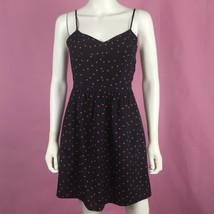 J Crew Cami Dress 4 Navy Red Seaside Polka Dot Cami Dress Pockets Summer - $29.69