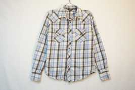 Arizona Western Wear Heavy Cotton Snap-Button-Front Shirt, Men's Small 8386 - $13.21