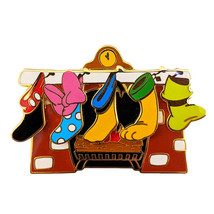 Mickey and Friends Disney Lapel Pin: Christmas Stockings - $44.90
