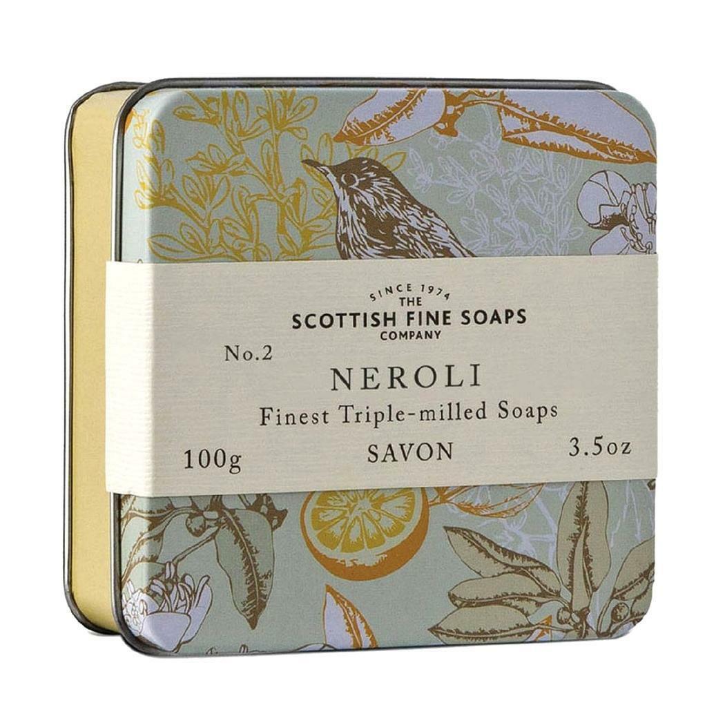 Scottish Fine Soaps Luxury Soap Neroli Soap in a Tin 100g 3.5oz