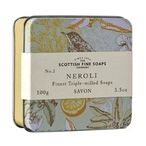 Scottish Fine Soaps Luxury Soap Neroli Soap in a Tin 100g 3.5oz - $15.60