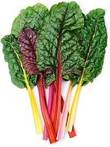 Sow No GMO Swiss Chard Rainbow Mix Leafy Greens with Vibrant Colorful Stems Non  - $2.64