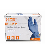 HDX Nitrile Disposable Gloves, 50 Count Box, One Size Fits All - $19.79
