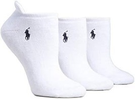 Ralph Lauren Cushiond Heel Low Sock 3-Pack PINK/WHITE Cotton Blend SIZE-9-11 New - $34.80