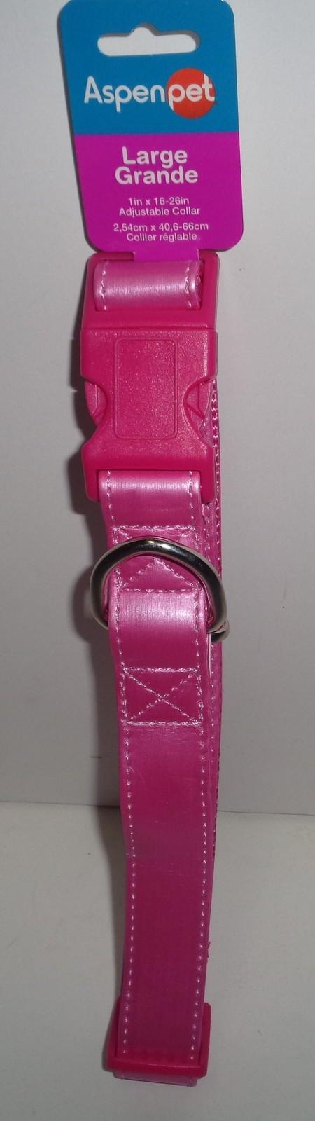 Neon Hot Pink Large Dog Collar NWT Aspen Pet Adjustable