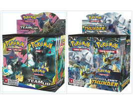 Pokemon TCG Sun & Moon Team Up + Lost Thunder Booster Box Bundle - $224.99