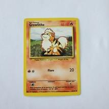 Pokemon Base Set 1999 Growlithe Card MP 28/102 TCG Trading Card Game Unlimited - $1.25