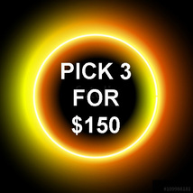 MON-TUES  PICK ANY 3 FOR $150 DOES NOT INCLUDE NO DEALS & MYSTICAL TREAS... - $0.00