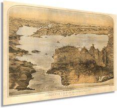 1876 San Francisco Bay Area Map Art - Vintage Map Wall Art - Map of Bay Area Pos - $34.99+