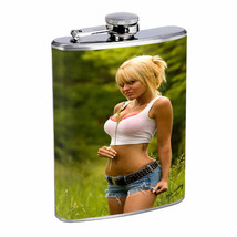 Norwegian Pin Up Girls D19 Flask 8oz Stainless Steel Hip Drinking Whiskey - $13.81