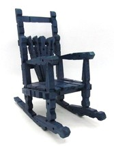 """Dark Blue Rocking Chair Made of Clothes Pins 7.25"""" tall for Dolls Displa... - $19.79"""