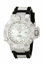 Invicta 0737 Subaqua Noma III GMT White Mother-Of-Pearl -No Band & needs battery - $125.00