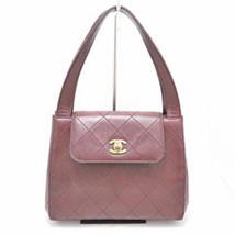 Auth CHANEL Handbag Red Medium Sheepskin Matelasse Vintage Flap Logo B3027 - $1,052.37