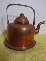 Vintage Peltiteos Oy Helsinki OPA Copper Teapot Water Kettle 1 1/2 L - $25.73