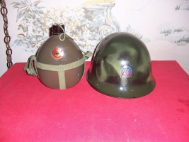Chinese Military Dress Helmet and Canteen - $39.35