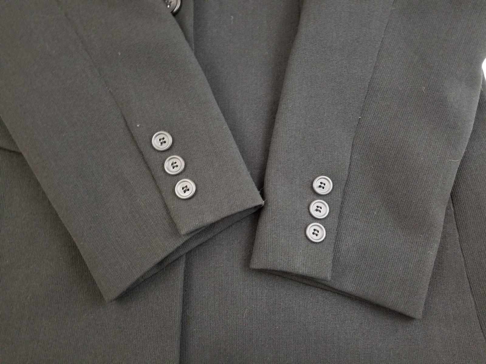 Laura Scott Size 12 Black Suit Jacket/Blazer