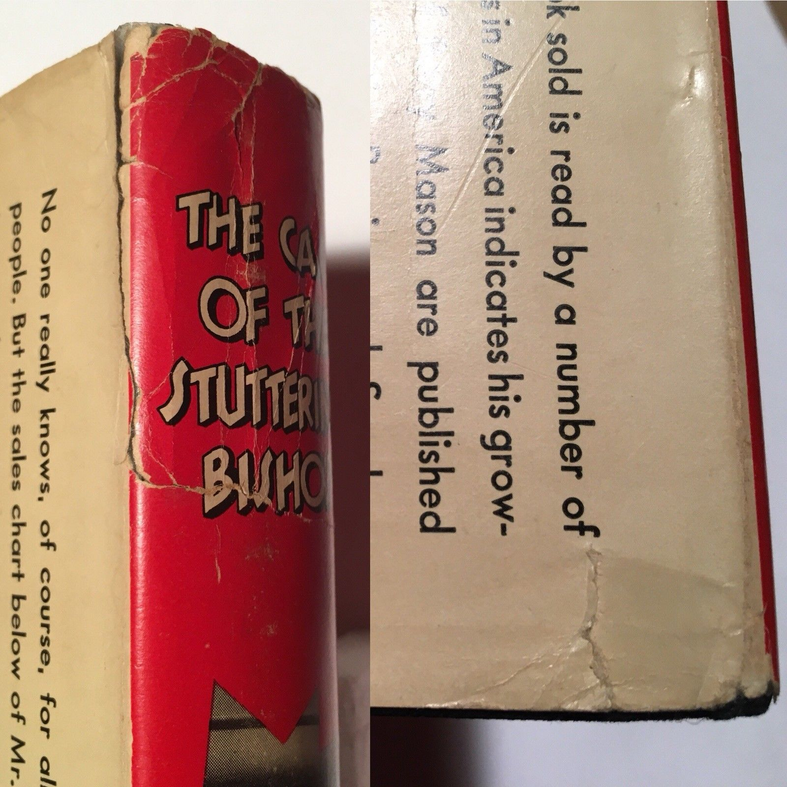 THE CASE OF THE STUTTERING BISHOP  Erle Stanley Gardner 1st edition