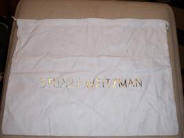 New Stuart Weitzman Dust Bag White With Drawstring 14 X 10 - $8.21