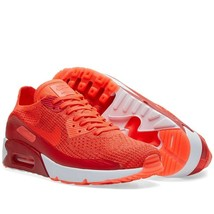 New Nike Air Max 90 Ultra 2.0 Flyknit Shoes Bright Crimson 875943-600 - $114.99