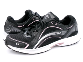 Ryka Womens 8.5 Black Sky Walk Lace Up Low Top Athletic Sneaker Shoes EU... - $27.99