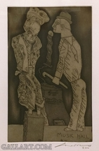 """Jose Luis Cuevas """"Unknown Title"""" - Hand Signed Etching - See Live at Gal... - $1,000.00"""