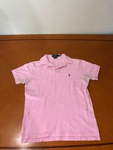 Men's Polo by Ralph Lauren Pink Slim Fit Solid Polo Shirt Size M Medium ... - $8.90