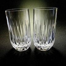 2 (Two) Vintage Stuart Claridge Cut Lead Crystal Highballs DISCONTINUED- Signed - $119.15