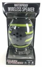 iHip Waterproof Wireless Blitz Speaker  Bluetooth Football Gray Lime Gre... - $36.98 CAD