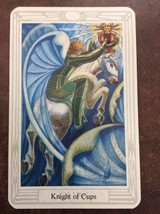 Aleister Crowley Thoth Tarot Small Deck Knight Of Cups INDIVIDUAL CARD M... - $1.98