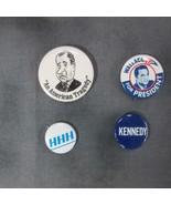 4 Pinbacks: Nixon An American Tragedy, Wallace for President, HHH, Kennedy - $22.27