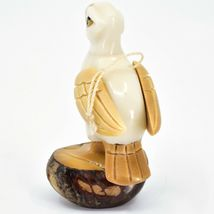 Hand Carved Tagua Nut Carving Puffin Bird Hanging Ornament Made in Ecuador image 4