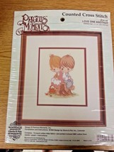 "Precious Moments Counted Cross Stitch Love One Another 1994 8"" x 10 inch - $14.84"