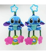 Baby Rattles Cartoon Stitch Animal Plush Toys Baby Stroller Crib Hanging... - $13.57